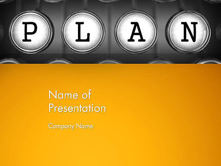 Business: Types of Planning PowerPoint Template #13855