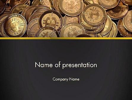 Financial/Accounting: Digital Currency PowerPoint Template #13856