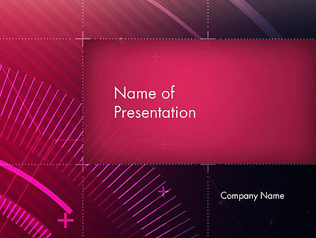 Digital Draft Abstract PowerPoint Template, 13857, Abstract/Textures — PoweredTemplate.com