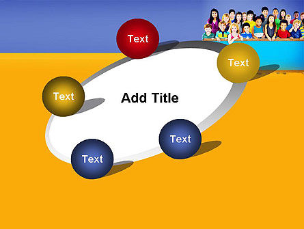 Diverse Preschool Children PowerPoint Template Slide 14