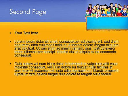 Diverse Preschool Children PowerPoint Template, Slide 2, 13859, Education & Training — PoweredTemplate.com