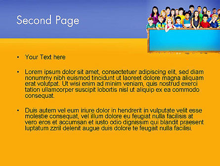 Diverse Preschool Children PowerPoint Template Slide 2