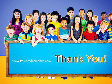 Diverse Preschool Children PowerPoint Template Slide 20