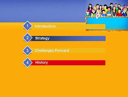 Diverse Preschool Children PowerPoint Template, Slide 3, 13859, Education & Training — PoweredTemplate.com