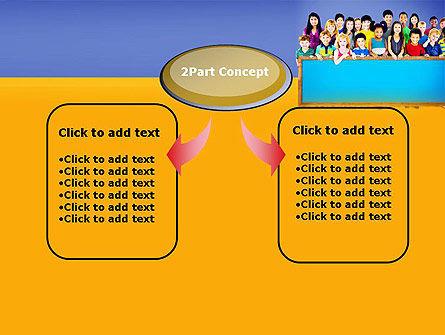 Diverse Preschool Children PowerPoint Template, Slide 4, 13859, Education & Training — PoweredTemplate.com