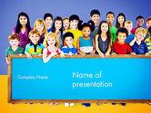 Education & Training: Diverse Preschool Children PowerPoint Template #13859