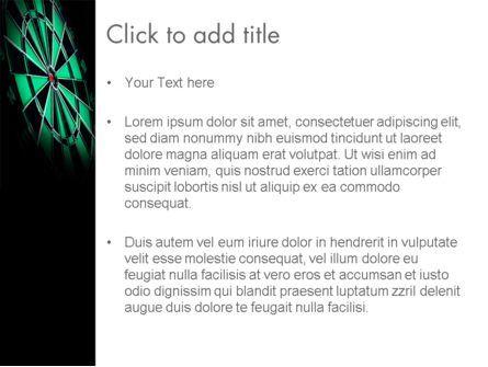 Bullseye Arrow PowerPoint Template, Slide 3, 13862, Sports — PoweredTemplate.com