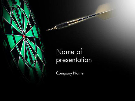 Sports: Bullseye Arrow PowerPoint Template #13862