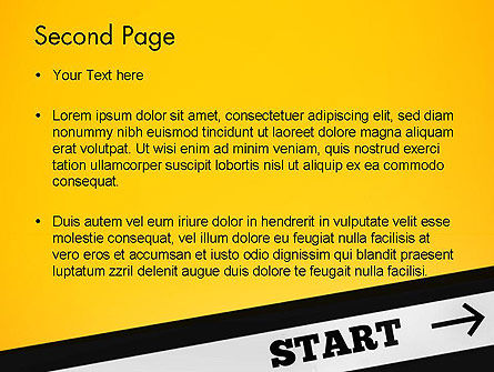 Start On PowerPoint Template Slide 2