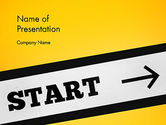 Business Concepts: Start On PowerPoint Template #13865