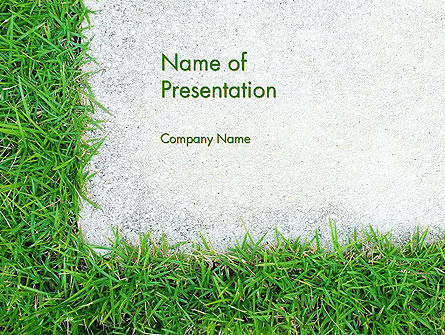 Nature & Environment: Grass and Concrete PowerPoint Template #13868
