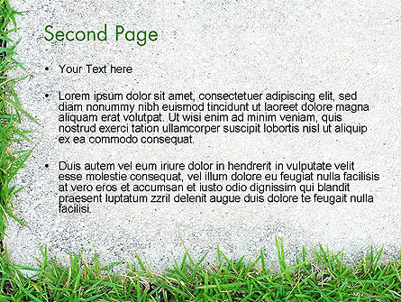 Grass and Concrete PowerPoint Template, Slide 2, 13868, Nature & Environment — PoweredTemplate.com