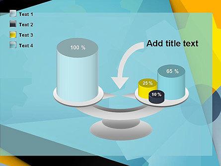 Flat Designed Cogwheel Abstract PowerPoint Template Slide 10