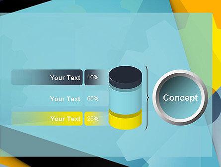 Flat Designed Cogwheel Abstract PowerPoint Template Slide 11