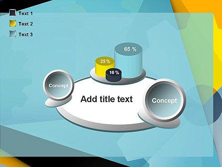 Flat Designed Cogwheel Abstract PowerPoint Template Slide 16