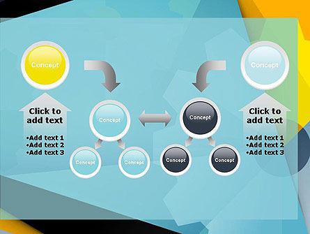 Flat Designed Cogwheel Abstract PowerPoint Template Slide 19