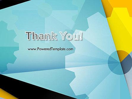 Flat Designed Cogwheel Abstract PowerPoint Template Slide 20