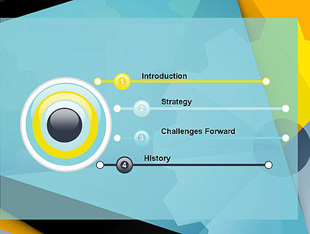 Flat Designed Cogwheel Abstract PowerPoint Template, Slide 3, 13869, Utilities/Industrial — PoweredTemplate.com