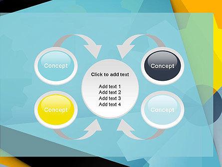 Flat Designed Cogwheel Abstract PowerPoint Template Slide 6
