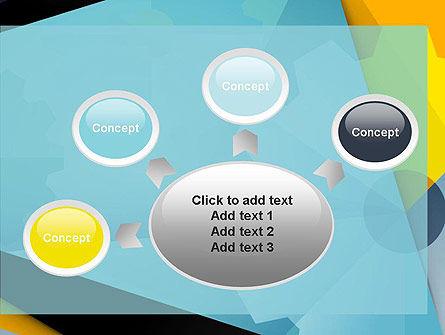 Flat Designed Cogwheel Abstract PowerPoint Template Slide 7