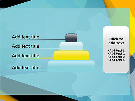 Flat Designed Cogwheel Abstract PowerPoint Template Slide 8