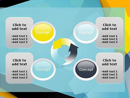 Flat Designed Cogwheel Abstract PowerPoint Template Slide 9