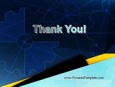 Cogwheels Connected with Thin Lines PowerPoint Template#20