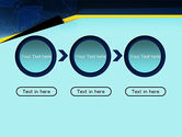 Cogwheels Connected with Thin Lines PowerPoint Template#5