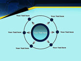 Cogwheels Connected with Thin Lines PowerPoint Template#7