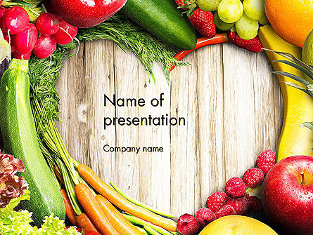 love fruit and veg powerpoint template, backgrounds | 13871, Modern powerpoint
