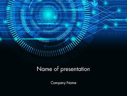 Digital Technology Abstract PowerPoint Template, 13872, Technology and Science — PoweredTemplate.com