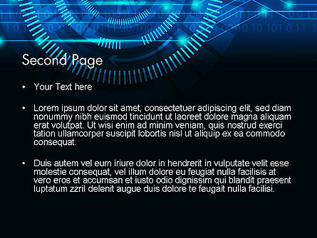 Digital Technology Abstract PowerPoint Template, Slide 2, 13872, Technology and Science — PoweredTemplate.com