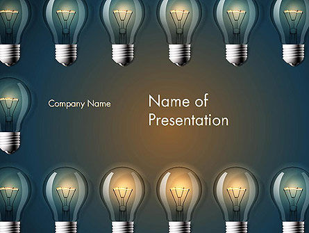Technology and Science: Bulb Kader PowerPoint Template #13873