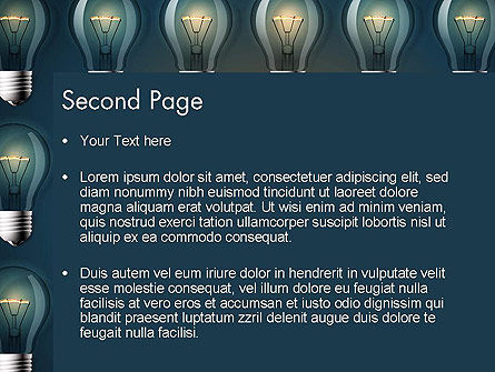 Bulb Frame PowerPoint Template, Slide 2, 13873, Technology and Science — PoweredTemplate.com
