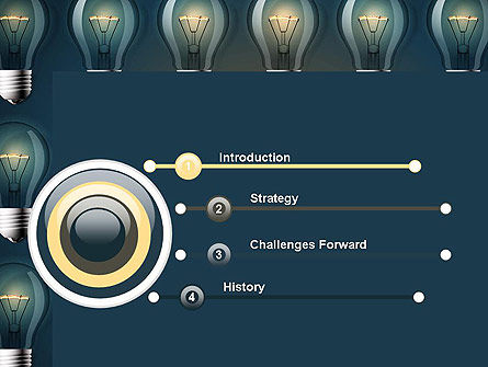 Bulb Frame PowerPoint Template, Slide 3, 13873, Technology and Science — PoweredTemplate.com