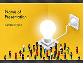 Business Concepts: Crowd of People Committed to Idea PowerPoint Template #13875
