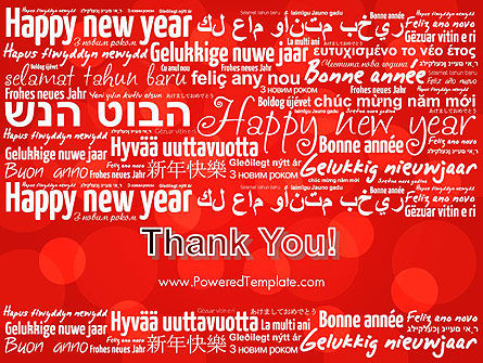 Happy New Year Wishes in Different Languages PowerPoint Template Slide 20