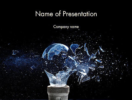 Glass Explosion PowerPoint Template