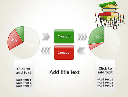 Book Stack and People PowerPoint Template Slide 11