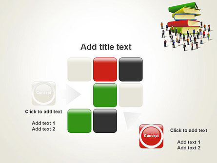 Book Stack and People PowerPoint Template Slide 16