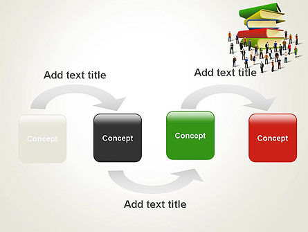 Book Stack and People PowerPoint Template, Slide 4, 13880, Education & Training — PoweredTemplate.com