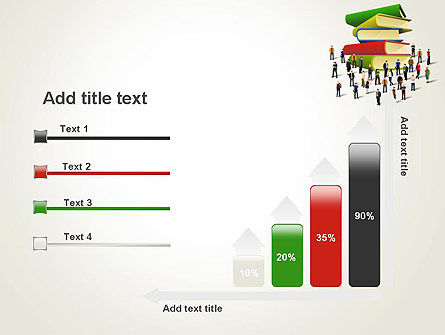 Book Stack and People PowerPoint Template Slide 8