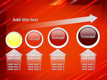 Red Meteor Shower Abstract PowerPoint Template Slide 13