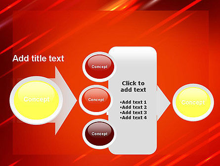 Red Meteor Shower Abstract PowerPoint Template Slide 17