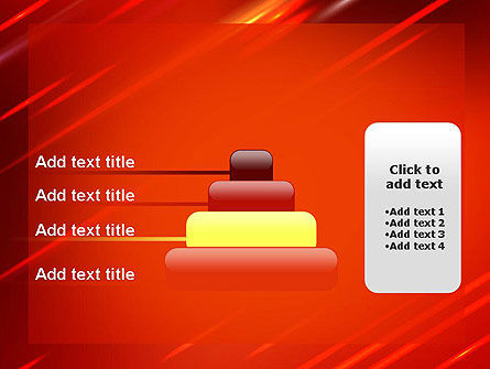 Red Meteor Shower Abstract PowerPoint Template Slide 8
