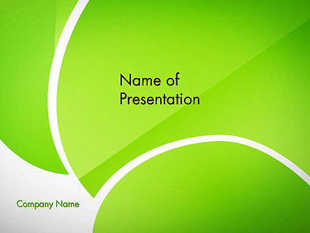 Green Flat Petals Abstract PowerPoint Template