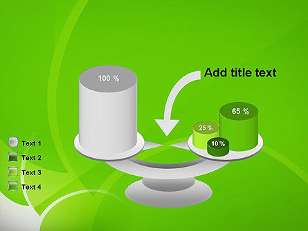 Green Flat Petals Abstract PowerPoint Template Slide 10