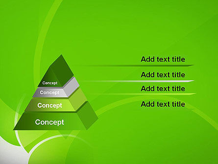 Green Flat Petals Abstract PowerPoint Template Slide 12