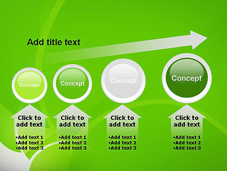 Green Flat Petals Abstract PowerPoint Template Slide 13