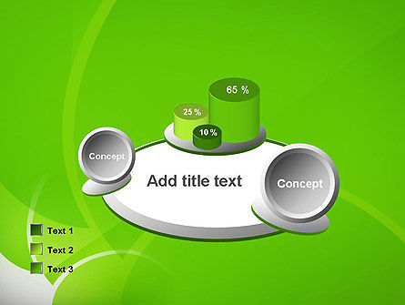 Green Flat Petals Abstract PowerPoint Template Slide 16